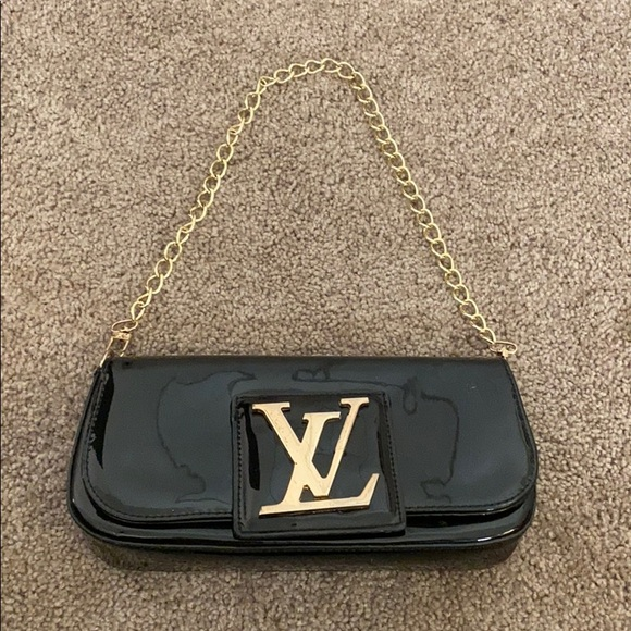 Handbags - LV satchel/clutch with gold lettering
